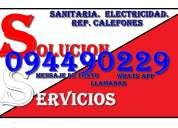 Servicios soluciones reparaciones calefones