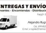 Paqueteria,entregas,envios, distribucion.servicios a empresas.