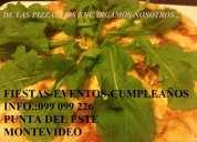 Tenedor libre de pizzas y chivitos en tu fiesta!!!