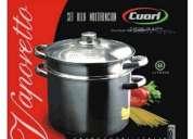 Olla vaporetto cuori multifunción para cocinar pasta y al vapor
