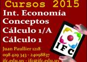 Conceptos contables, cálculo 1, cálculo 1/a, introd a la economía, cursos paralelos, revisión. c