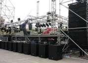 Alquiler de sonido y luces armado y montaje de escenarios