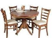 Vendo juego de comedor redondo 4 sillas
