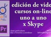 curso online de edición de video, uno a uno por skype