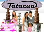 Fuente fondue de chocolate grande venta para alquilar 8 pisos
