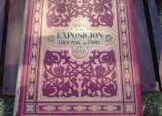 Vendo libro grande buen estado frances del año 1889