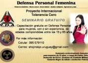 Aprende a protegerte (seminario gratis de defensa personal femenina)