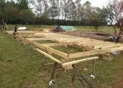 Construccion de casa y cabaÑas de madera,stell framing,,material,remodelaciones