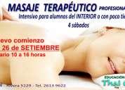 Curso intensivo de masaje terapÉutico profesional