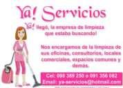 Empresa de limpieza ya! servicios. maldonado, punta del este, josé ignacio, zonz oeste