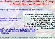 Clases particulares de informática y computación. ideal adultos mayores, preparación de examenes