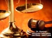abogado laboral despidos, defensa del trabajador, representacion de empresas, consultas gratis