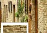 Pisos y revestimientos de piedra cementicia/simil piedra
