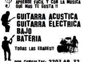Clases de guitarra bajo y bateria.
