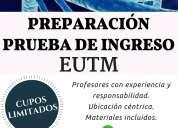 Preparación prueba de ingreso eutm 2016