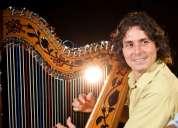 Arpista internacional ofrece servicios musicales en uruguay