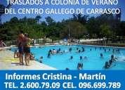 Traslado a colonia de verano del centro gallego en carrasco