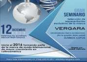 Gratis seminario con vergara!! oportunidad unica