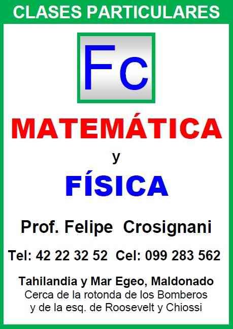 FC Clases Particulares de Matemática y Física en Maldonado - Punta del Este 099.283.562
