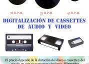 DigitalizaciÓn de discos de vinilo y cassettes de audio y video