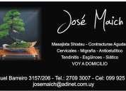 Masaje shiatsu descontracturante