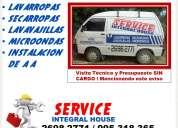 Service reparacion de lavarropas, electrodomesticos james, enxuta, otras marcas