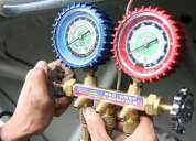 aire acondicionado. reparaciones y carga de refrigerantes en vehiculos; hogar e industria.