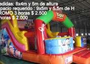 Alquiler de castillos inflables y toro mecanico 099182877