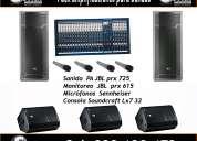 Alquiler de equipos para  dj / bandas en jose ignacio y la barra  – sonar producciones.