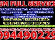 calefones reparacion todas las marcas y modelos, sanitaria y electricidad, service y mantenimiento