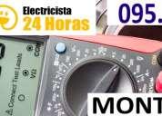 Electricista electricistas en pocitos (( 095661875 )) 24 horas urgencias emergencia ute