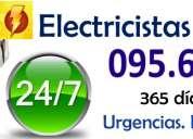 Electricistas en la blanqueada (( 095661875 )) urgencias 24 horas firma ute