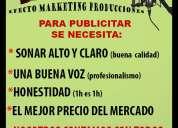Locuciones comerciales -grabaciones en audio- presentacion en eventos-soluciones en publicidad