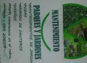 Jardinería. mantenimiento de jardines, contactarse.