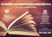 Cursos y/o clases particulares de redacciÓn, sintaxis y vocabulario para estudiantes universitarios