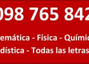Profesor a domicilio clases entucasa todas las materias 098765842 27105041