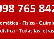 clases particulares algebra lineal-estadistica-marketing-auditoria 098765842