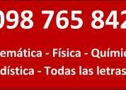 Matematica 098765842 clases particulares profesor fisica quimica estadistica contabilidad