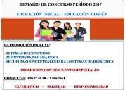 Venta de temas de concurso para maestros de educaciÓn inicial y comÚn perÍodo 2017
