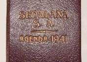 Agenda antigua   sedalana s.a. aÑo 1941     iii u n i c a !!!
