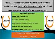 PreparaciÓn del concurso para cargos de direcciÓn y subdirecciÓn de liceos del ces