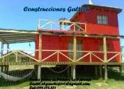 Constructor construcciones,punta rubia la pedrera santa isabel,cabaña a estrenar,maderas tratadas y