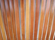 Cortinas de enrollar en madera restauracion reciclado pintura