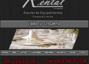 Alquiler de vajilla uruguay,alquiler de cristaleria uruguay,alquiler de vajilla y cristaleria