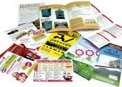 Reparto supervisado de volantes y revistas publicitarias