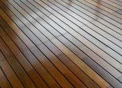 Pulidos, plastificados e hidrolaqueados de pisos  de madera (reparaciones en general)