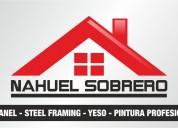 Construcción y reformas, sanitaria, pintura, isopanel, steel framing, mantenimiento en general.