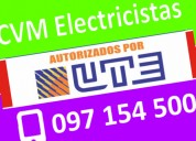 Electricista urgencias pocitos (( 097 154 500 )) 24 horas montevideo