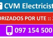 Electricista buceo 24 horas (( 097 154 500 )) montevideo urgencias autorizado ute