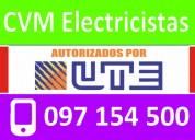 electricista en parque batlle 24 horas (( 097 154 500 )) urgencias autorizado por ute